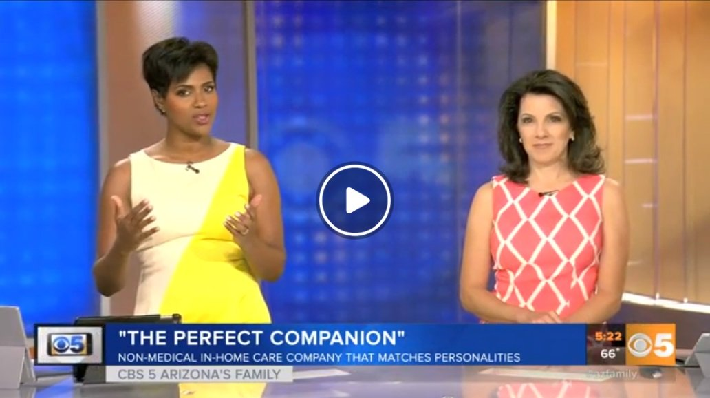 Yetta Gibson Features The Perfect Companion on CBS 5 Arizona's Family